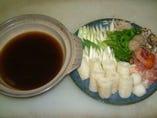 比内地鶏と自家製たんぽによるきりたんぽ鍋