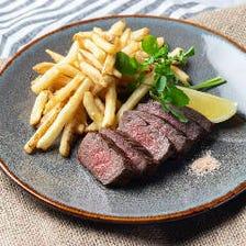 極黒牛のステーキ