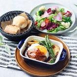 淡路産牛ハンバーグランチ(サラダ+パンorライス)