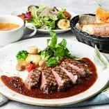 期間限定 淡路産牛サーロインステーキ(サラダ+パンorライス)