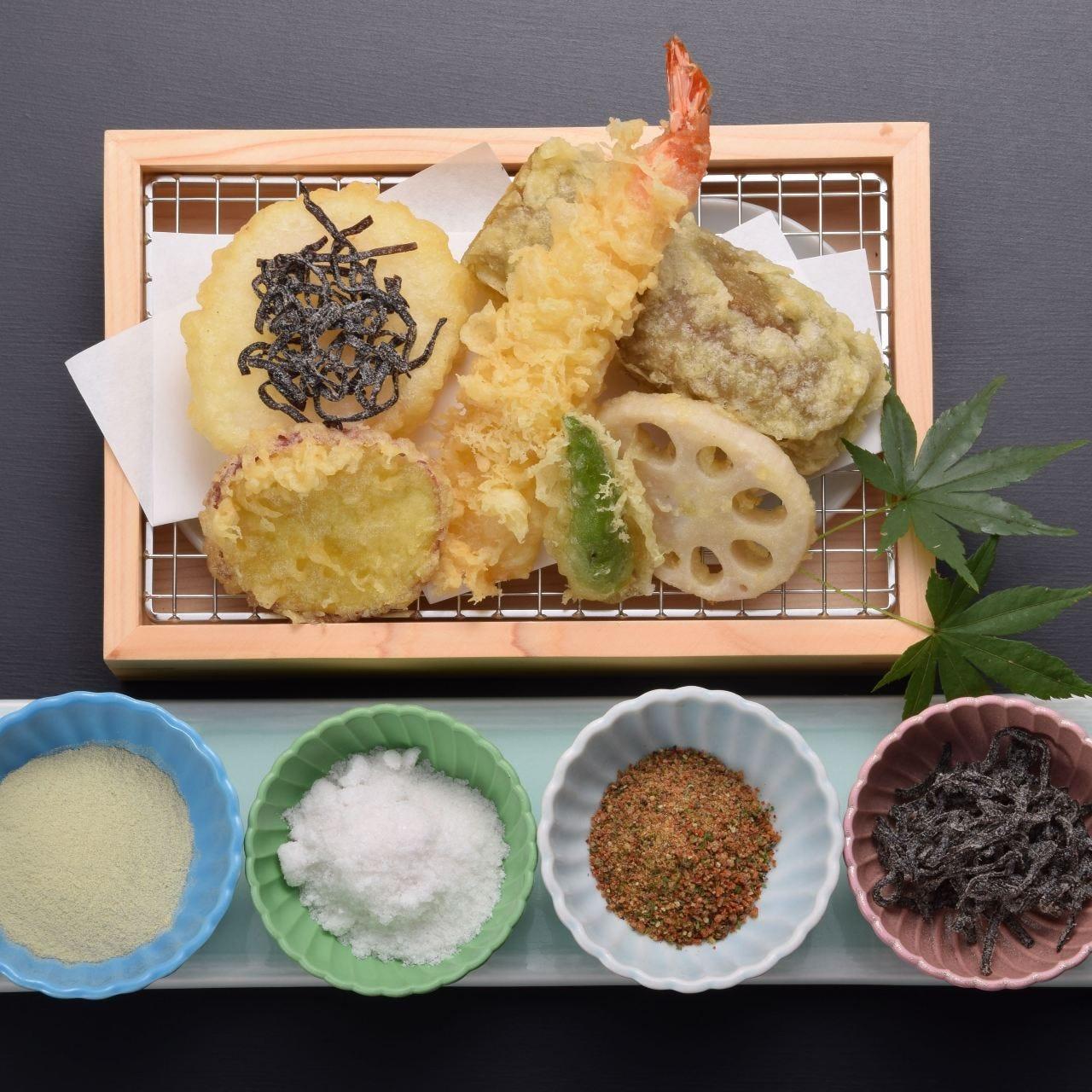 【2時間飲み放題付き】厳選天ぷら4種<雅コース>
