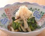 小松菜としめじのゆず浸し
