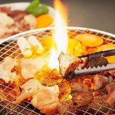 七輪で焼く焼肉スタイルの焼鳥専門店