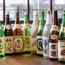 奈良の地酒をはじめ、多彩に揃う美酒