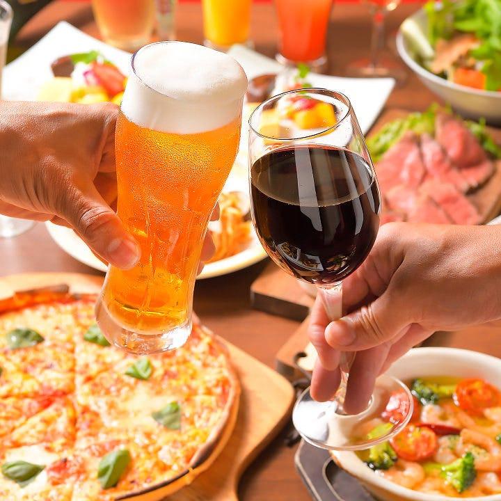 お肉料理やイタリアンをボリューム満点のコースでどうぞ♪