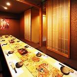 ご宴会に最適な16名様まで対応できる個室席もございます