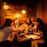 女子会や飲み会&仕事帰りのサク飲みに最適!プライベート空間★