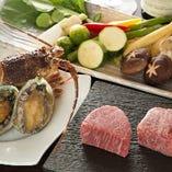 【新鮮な魚介類】お肉だけじゃなく、新鮮な魚介を堪能。