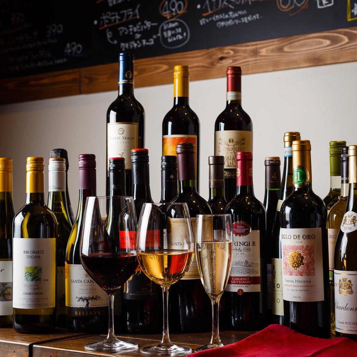 お肉と相性がいいワインが充実♪