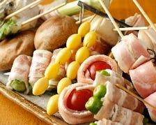 肉巻き野菜串の盛り合わせ