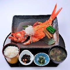 地金目鯛煮付定食(片身)