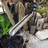 ◆水滴の涼やかな音色が愉しめる水琴窟