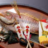 祝い鯛などお祝い料理もご用意可能