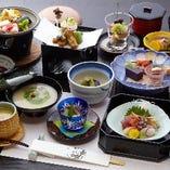 季節の食材を使用し日本の四季を表現する会席をご用意いたします