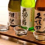 「獺祭」「九平治」など、こだわりの日本酒をご用意【国内】