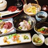 結納・お顔合わせのお食事には華やかな盛り付けで。
