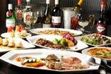 着席スタイルは大皿料理で各テーブルにお出しします
