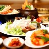 宴会【 本場韓国料理コース 】13品 2h 飲放付・・・下見にも♪