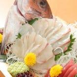 追加のお料理 『鯛の姿盛り合わせ』