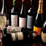自慢のワインは様々な地域のものをバランス良く取り揃え