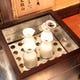 お燗器も設置してます。 温めて旨味が膨らむのも日本酒の特徴!