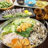 各種宴会に♪ウニ、白子、牡蠣、あん肝の痛風鍋