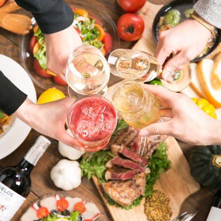 【全5品】定番ピザや前菜&豚ステーキ『豚ロースステーキコース』宴会 飲み会 パーティー