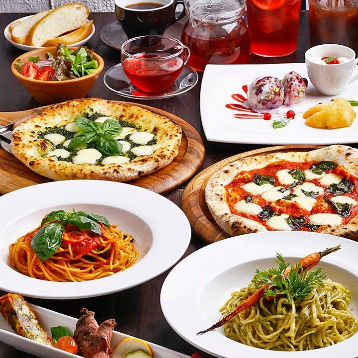 パスタやピザが選べる人気のランチ 16時までご注文OKです♪