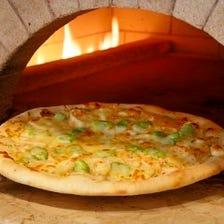 月替わり焼き立てピザ