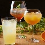 オリジナル和酒カクテルや全国の地酒、季節の日本酒もございます
