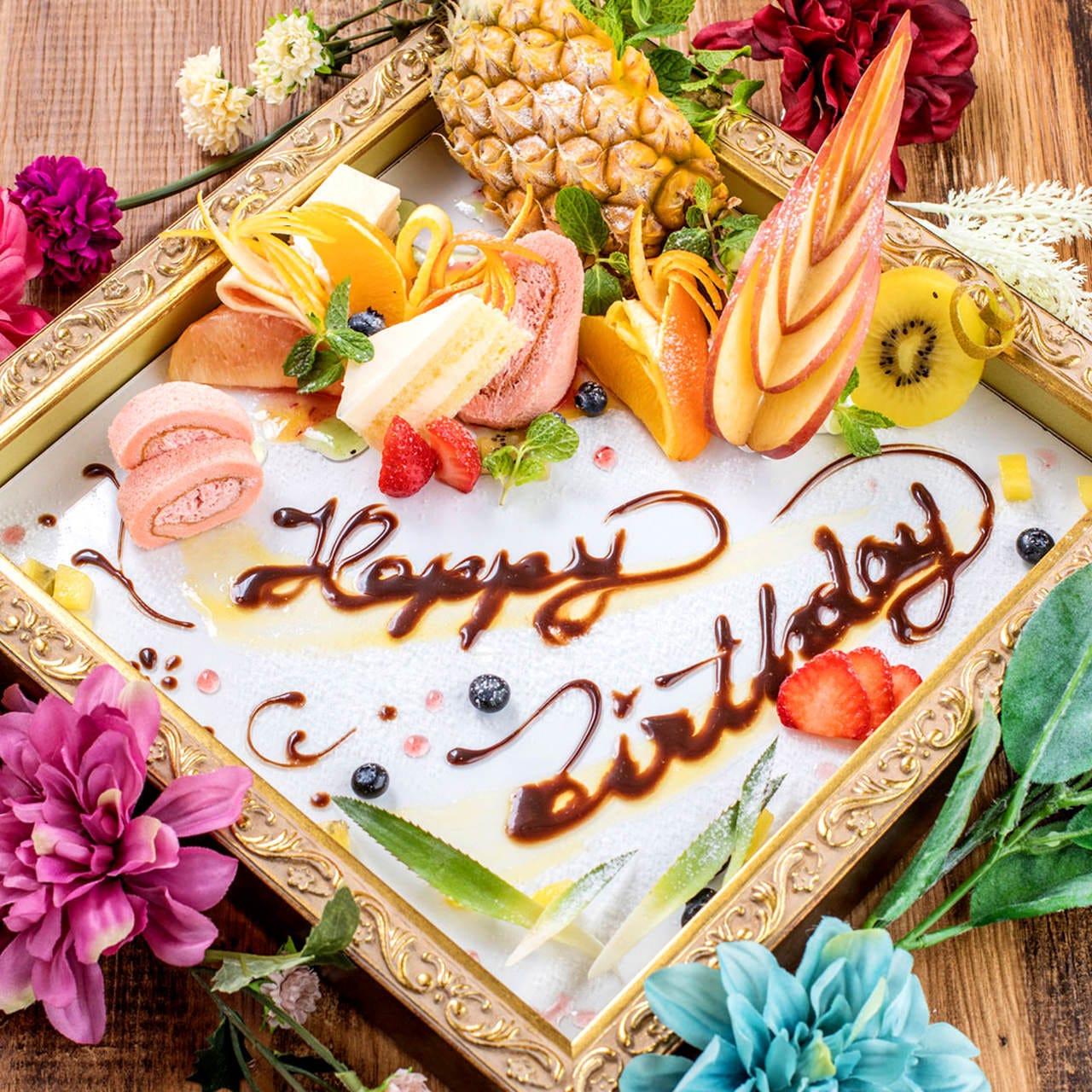 《誕生日・記念日に》 デザートプレートでお祝い☆☆