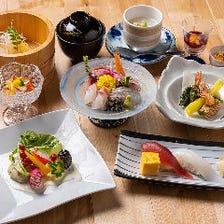 3種の先附から刺身盛り、鮮魚のソテーなど和洋折衷なお料理『かねはち定番コース』全10品|宴会