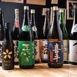 浜松や焼津、袋井、清水、沼津など、静岡の地酒を約8種ご用意