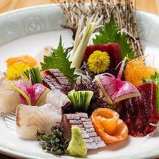 匠の技で仕立てる彩り豊かな海鮮料理