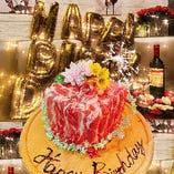 SNS映え間違いなしの肉ケーキで特別な記念日をお祝い♪