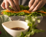 契約農家の新鮮野菜を使った名物『手作り生春巻き』【関西を中心に全国より】