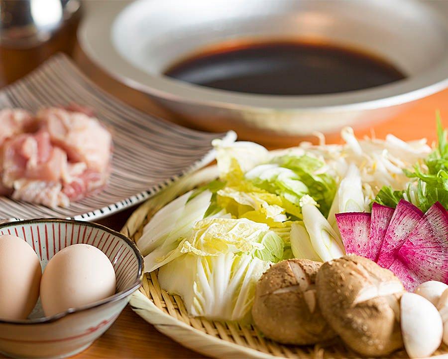 【宴会/ぐるなび/女子会/飲み会/ぐるなび限定】京赤地鶏のすき焼きコース 4,500円【飲み放題付】