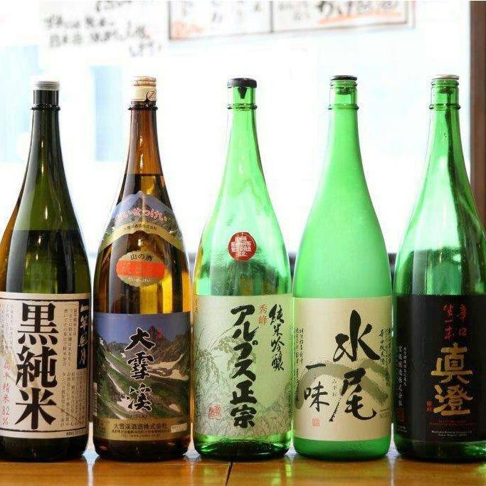 信州地酒が常時10種以上全て825円!