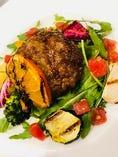 【数量限定のお肉ランチ】150g国産牛肉ハンバーグ ポルペットーネ ~ドリンク・自家製パン付き~