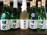 獺祭、八海山、桃川、大七などの大吟醸を取り揃えております