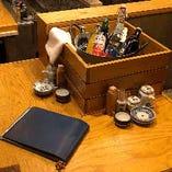 【どぶ漬け】甲類焼酎の割り材を自分で選んでお酒を作れます。