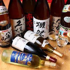 【しっかり飲みたい方へ】「プレミアム飲み放題」なら、獺祭・久保田・伊佐美・厳選ワインも飲み放題!