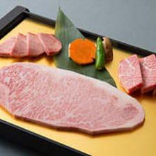 松阪牛サーロイン特上肉の盛り合わせ
