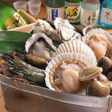 厳選された新鮮魚介