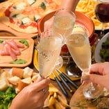 《日~木なら無制限!》作りたてのイタリアン食べ飲み放題!