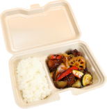 野菜と鶏肉の黒酢あんかけ弁当