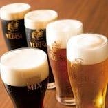 個性豊かなエビスビール6種をご用意しております!