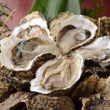 知内産の新鮮な牡蠣が食べられます!