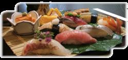 にぎり寿司は一貫より承ります。旬のお刺身もご用意しております