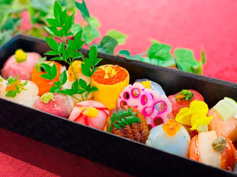 お菓子のような手まり寿司